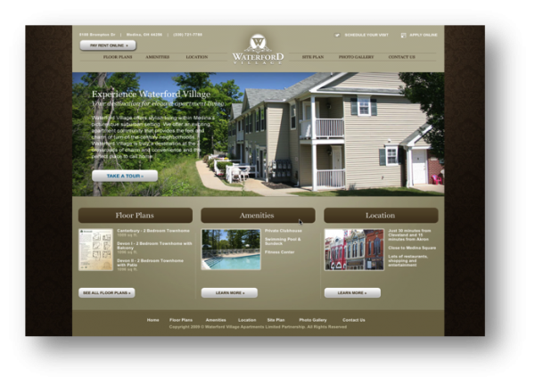 Waterford Village Website Design