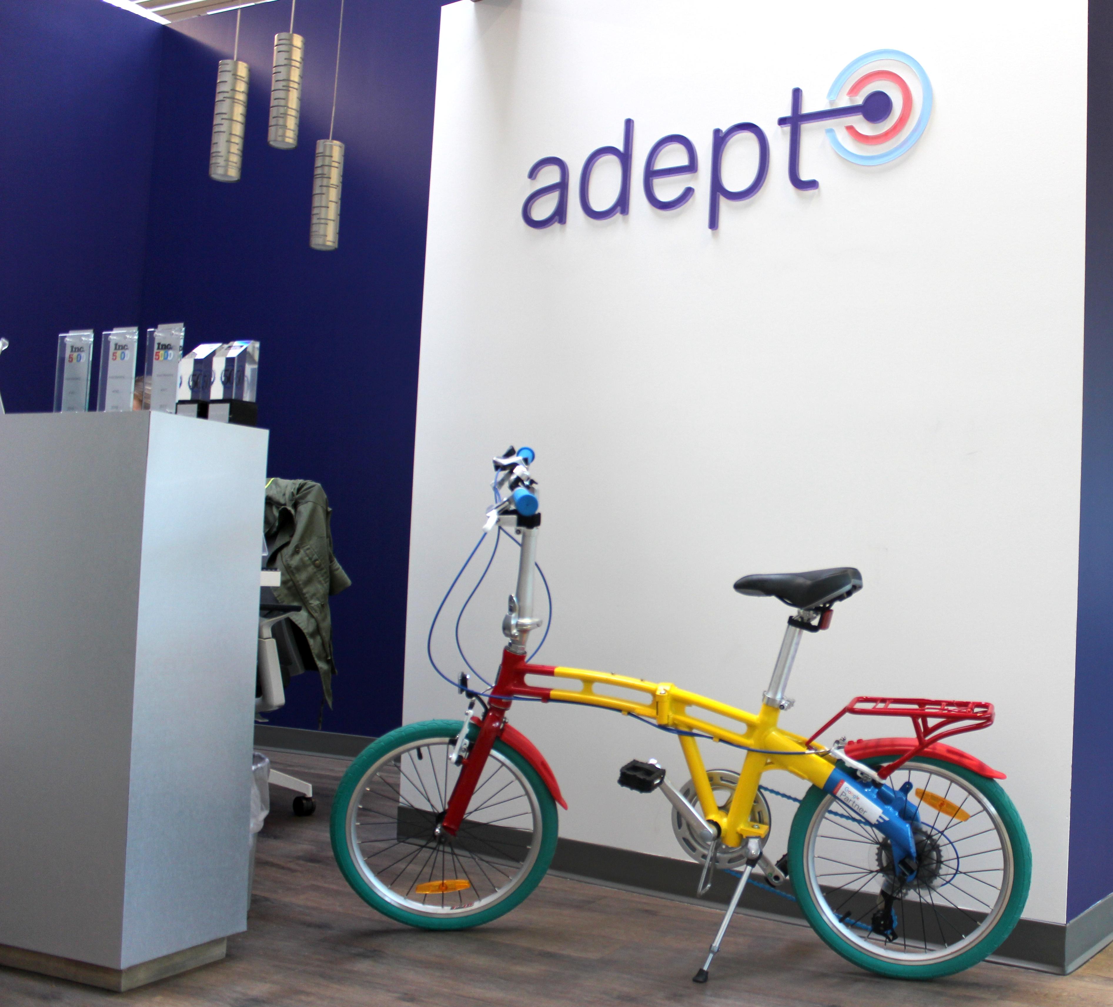 google bike in adept lobby