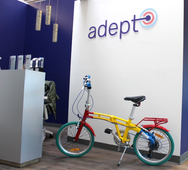 google bike in adept lobby