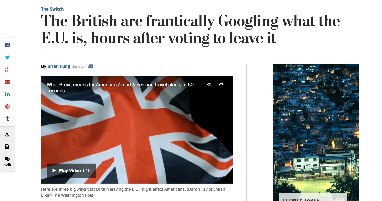 Washington Post Google EU