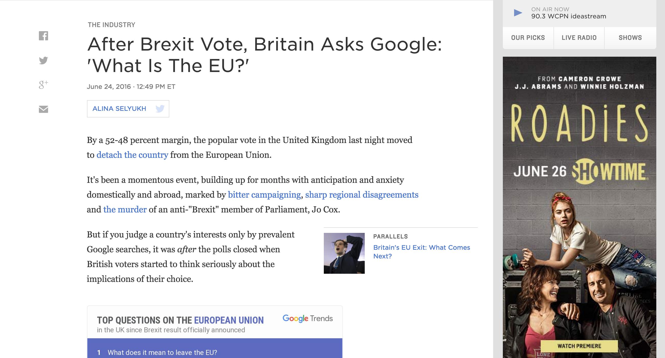 NPR Google Brexit Vote